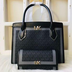 MK Montgomery Satchel & Wallet Set